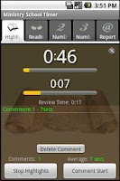 Screenshot of Ministry School Timer