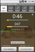 Screenshot of Ministry School Timer