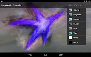 Screenshot of Impressionist Fingerpaint