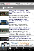 Screenshot of KATU News Mobile