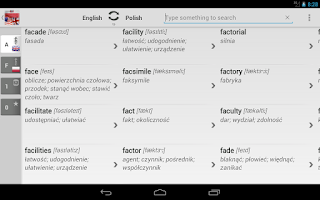 Screenshot of BK Dictionary Polish English