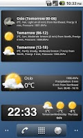 Screenshot of Weather widgets