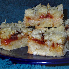 Sarah's Nutty Coconut Jam Bars