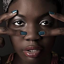 Black Magic Woman by Tomas Fensterseifer - People Portraits of Women ( hands, lips, africa, portrait, eyes )
