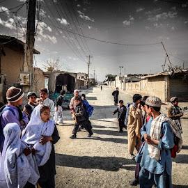 Schools out in Kandahar, Afghanistan  by Aaron Walker - People Street & Candids