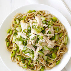 Cold Peanut Soba Noodles With Chicken