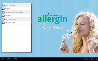 Screenshot of Pollen-Check für Tablet
