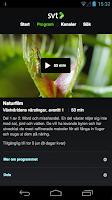 Screenshot of SVT Play