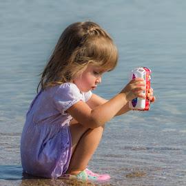 At The Beach by Sue Matsunaga - Babies & Children Children Candids