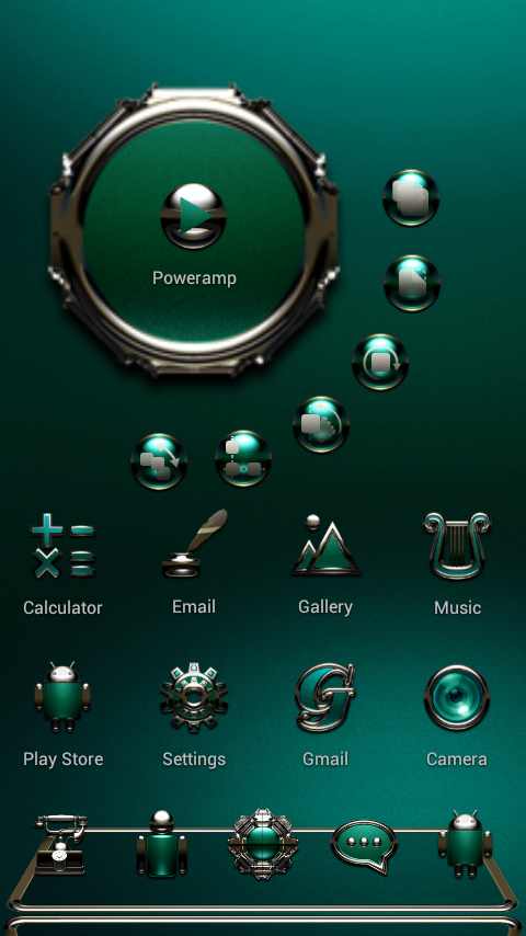 TRIQUA Next Launcher 3D Theme Screenshot 1