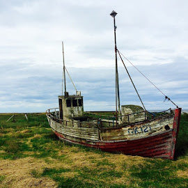 Abandoned boat Iceland by David Long - Instagram & Mobile iPhone