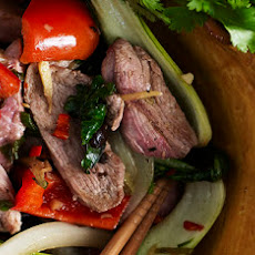 Duck Stir Fry With Peppers And Black Bean Sauce