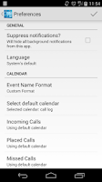 Screenshot of Call Log Calendar (Free/Trial)