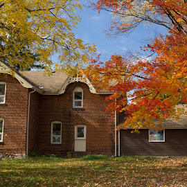 by Linda Pickrell - Buildings & Architecture Homes ( linda pickrell, autumn leaves, autumn, autumn colours, autumn colors, house )