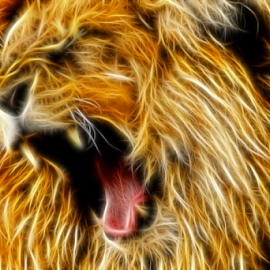 Lions Roar by Craig Eccles - Digital Art Abstract ( wild, lion, roar, art, digital art )