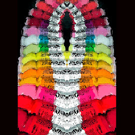 abstract by Carol Cooper - Abstract Patterns ( abstract, vending machine, art, vitamin water, fun )