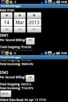 Screenshot of 2SIMCallLogger