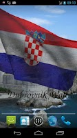 Screenshot of 3D Croatia Flag Live Wallpaper