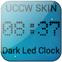 Dark Led Clock UCCW SKIN icon