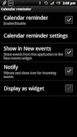 Screenshot of Calendar reminder Smart Extras