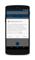 Screenshot of Roaming Call Control