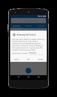 Screenshot of Roaming Call Control
