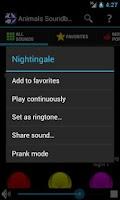 Screenshot of Animals Soundboard