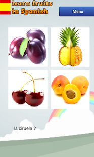 Spanish Vocabulary (Fruits) - screenshot