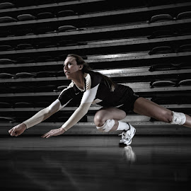 Dive by Amanda Gundrum - Sports & Fitness Other Sports ( ball, speed, stregth, volleyball, dive, power, dig, women, athlete, agility )