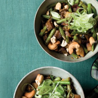 Eggplant Stir-Fry with Green Beans and Cashews
