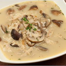Turkey, Rice and Mushroom Soup