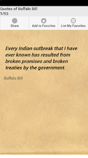 Quotes of Buffalo Bill - screenshot