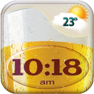 Beer Weather Clock Widget