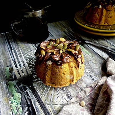 Chocolate Pumpkin Mini Bundts