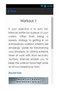 Man Fat Burn Workout Guide - screenshot
