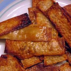 Oven-Baked Teriyaki or Thai Wonton Chips