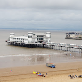 Weston Pier from above by Debbie Lawson - Landscapes Beaches