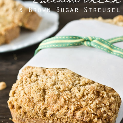 Peanut Butter Zucchini Bread with Brown Sugar Streusel