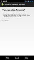 Screenshot of Donation for Mark Harman
