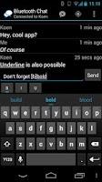 Screenshot of Bluetooth Chat