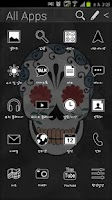 Screenshot of Funky Skull Atom theme (Free)