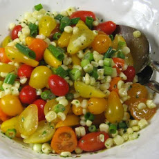 Corn and Tomato Salad With Cilantro Dressing