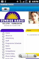 Screenshot of SUNRISE RADIO