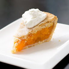Vanilla Bean Peach Pie