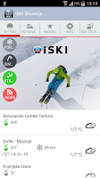 Screenshot of iSKI Slovenija