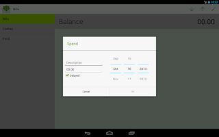 Screenshot of Budget with envelopes