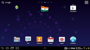 Screenshot of Waving India Flag Widget
