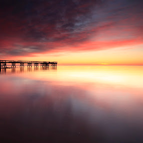 A most awesome sunrise by Edward Kreis - Landscapes Sunsets & Sunrises ( pasadena, dawn, waterscape, colorful, pier, maryland, chesapeake bay, sunrise, landscape,  )