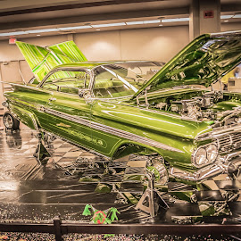 One of a kind by Cali Original - Transportation Automobiles ( car, lowrider, hdr, impala, chome, green, art )