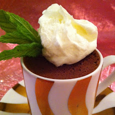 Chocolate Cups with Whipped Cream